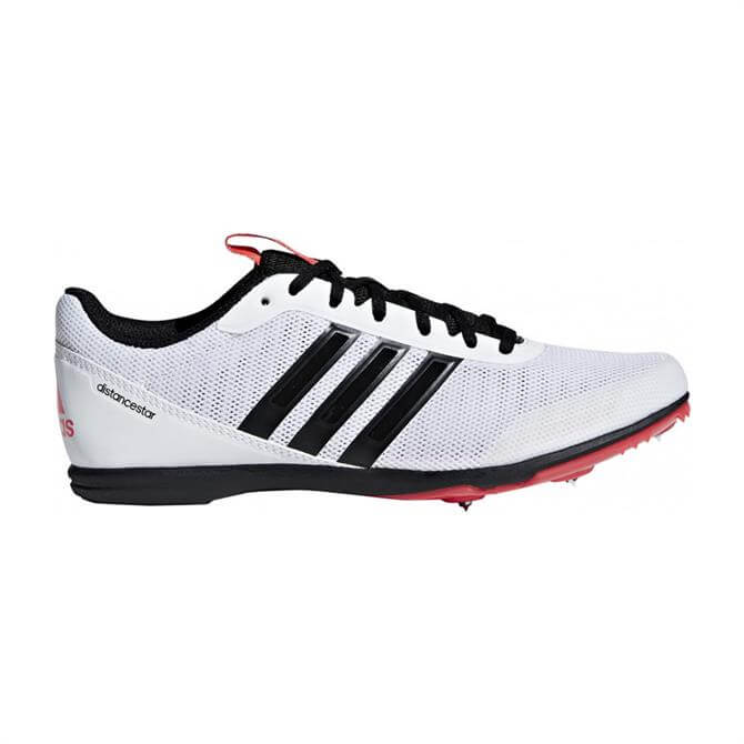 Adidas Men's Distance Star Spike Track Running Shoes - White/Black